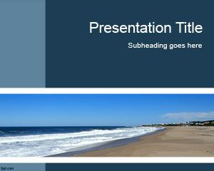 Nature free powerpoint templates you can download this free ppt template to decorate your presentations with a sea background template for powerpoint presentations toneelgroepblik Images