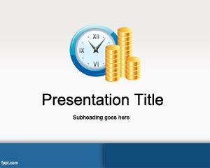 Free Time is Money PowerPoint Template