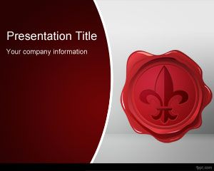 Free Wax Seal PowerPoint Template