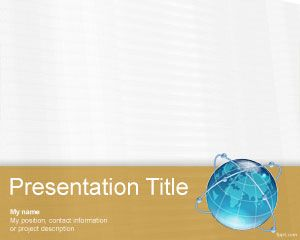 Free global communications PowerPoint background
