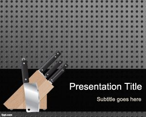 Objects free powerpoint templates download free recipe powerpoint templates and kitchen tools for presentations this free kitchen tools ppt template contains a metal background with toneelgroepblik Image collections