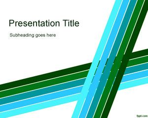 free Lines PowerPoint template