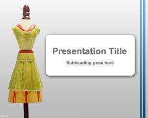 Mannequin powerpoint template FREE download