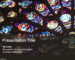 Artist free powerpoint templates the post stained glass powerpoint template appeared first on free powerpoint templates toneelgroepblik Choice Image