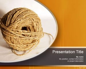 thread powerpoint template twine ppt free