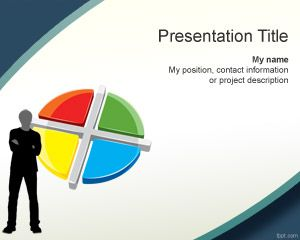 3d business chart powerpoint people