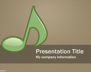 Free Musical PowerPoint Template with Music Note Symbols