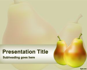 Free Pear PowerPoint template with pear slices in the slide design