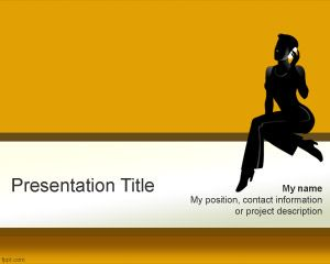 Talkative Woman Powerpoint Template Ppt Template
