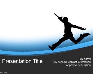 Free Kid Running PowerPoint Template