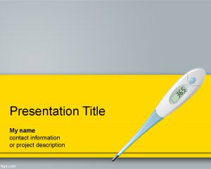 Medicine health free powerpoint templates created with powerpoint but it is ideal to be used in presentations on healthcare the medical slide design has a digital thermometer to measure toneelgroepblik Image collections