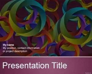 Free circles PowerPoint template with multi color background