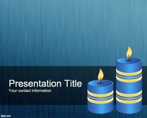 Blue Candles PowerPoint Template