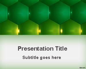 Green Hexagons PowerPoint Template