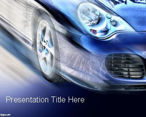 Free Car Speed PowerPoint Template