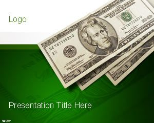 Example of green money slide design in a PowerPoint presentation