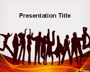 people – free powerpoint templates, Modern powerpoint