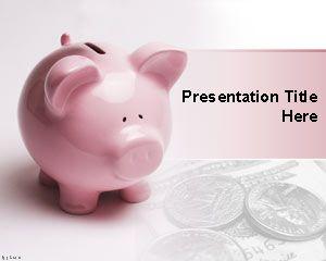 Financial Piggy  Bank PowerPoint Template