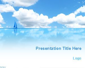 Blue Sea and Sky PowerPoint Template awesome background for PowerPoint