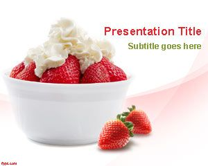 Strawberry Fruit PowerPoint Template