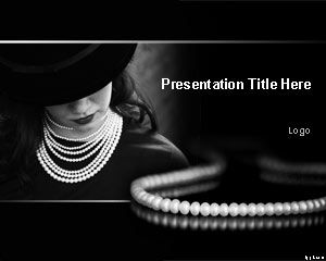 Pearl Necklace PowerPoint Template