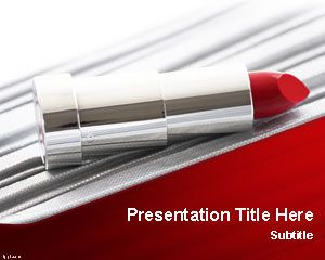 Fashion free powerpoint templates lipstick powerpoint template has a nice lipstick image in the slide design and you can download this ppt template to make presentations on beauty products toneelgroepblik Gallery