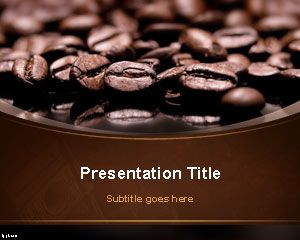 coffee beans powerpoint template. Black Bedroom Furniture Sets. Home Design Ideas