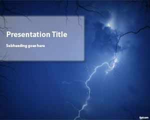 Free Storm PowerPoint Template