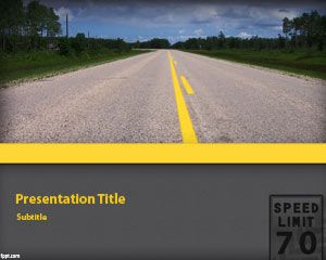 Transportation free powerpoint templates for example you can download the free highway background and slide design for powerpoint to decorate your presentations on travel and transportation toneelgroepblik Image collections