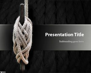 Knot PowerPoint Template with rope and black background