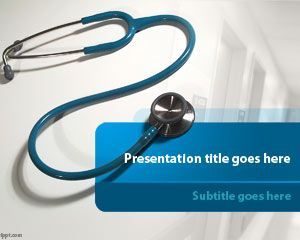 Medicine health free powerpoint templates this free stethoscope for microsoft powerpoint is a good example of medical presentation design for healthcare industry the free healthcare toneelgroepblik Image collections
