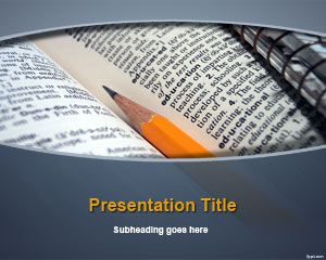 Dictionary PowerPoint Template