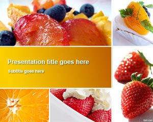 Food and drinks free powerpoint templates toneelgroepblik Choice Image