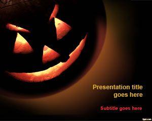 Free Halloween Pumpkin PowerPoint Template