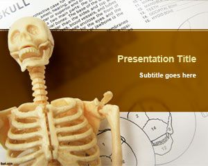 Health free powerpoint templates free skeletal system powerpoint template can be used for presentations when you need to display a bone in the slide design maxwellsz