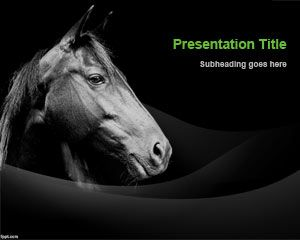 Champion Horse PowerPoint Template