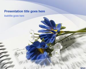 Flowers free powerpoint templates you can download this free music powerpoint presentation template to prepare music lessons using microsoft powerpoint 2010 and 2007 toneelgroepblik Image collections
