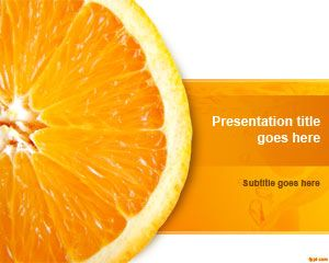 Orange Slice PowerPoint Template