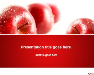 Apples Nutrition PowerPoint Template