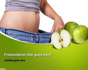Health free powerpoint templates free diet powerpoint template can be used for presentations on nutrition as well as low calorie slide designs or any toneelgroepblik Gallery
