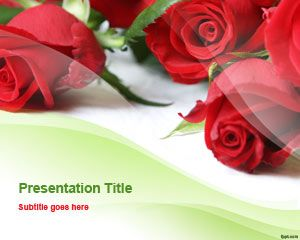 Romantic Roses PowerPoint Template