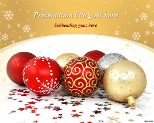 Christmas free powerpoint templates you can download free christmas balls powerpoint template to prepare presentations for christmas season and combine this template with christmas tree toneelgroepblik Image collections