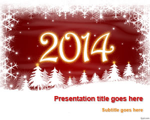 Holidays in the year free powerpoint templates las vegas and paris with the help of free new year 2014 powerpoint template send an invitation to your friends family and even strangers from across toneelgroepblik Gallery