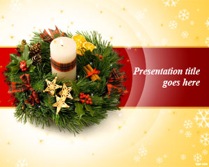 Christmas Wreath PowerPoint Template