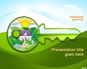Green House Concept PowerPoint Template