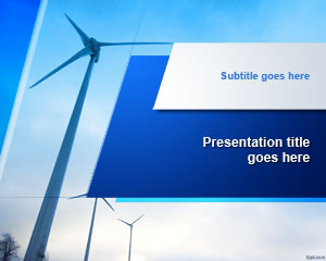 Wind Turbine PowerPoint Template