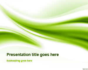 Green free powerpoint templates download presentations relevant to your style of thinking through free nice green curves ppt toneelgroepblik Images