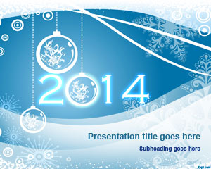 free happy new year 2014 powerpoint template free