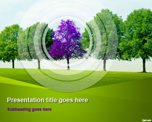 Tree Line PowerPoint Template