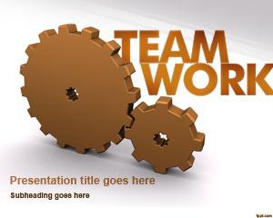 Gears & Team Work PowerPoint Template
